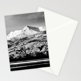Black and White Mountain Photography Print Stationery Cards