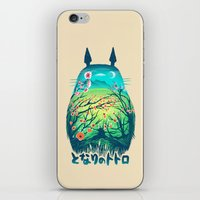 flower iPhone & iPod Skins featuring He Is My Neighbor by Victor Vercesi
