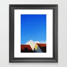 Primary Colours : Roof Framed Art Print