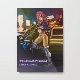 Kusanagi Motoko Metal Print