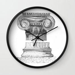 Ionic Capital - Pencil Wall Clock