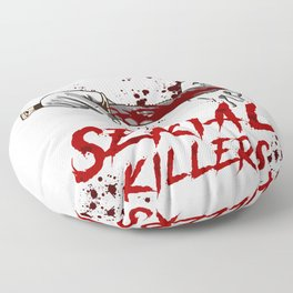 Introverted But Willing To Discuss Serial Killers Floor Pillow