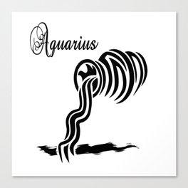 Aquarius Zodiac Water Bearer Canvas Print