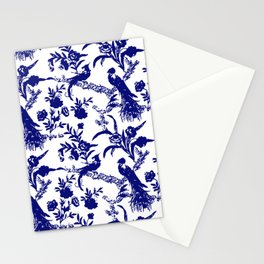 Royal french navy peacock Stationery Cards