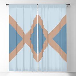 Brown Pastel Blue Minimal Diagonal Line Pattern 2021 Color of the Year Canyon Dusk & Accent Shades Blackout Curtain
