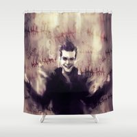 gotham Shower Curtains featuring Jerome Valeska - Gotham by AkiMao