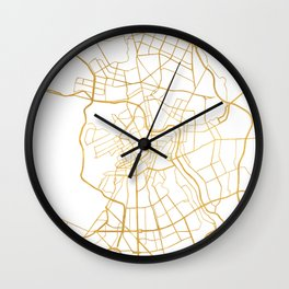 SAINT PETERSBURG CITY STREET MAP ART Wall Clock