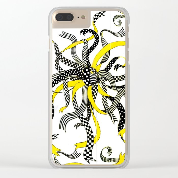 Swirling Ribbons Clear iPhone Case