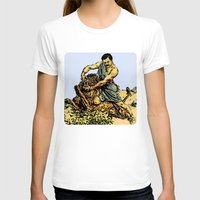 parks and recreation T-shirts featuring Ron Swanson Slaying A Lion  |  Parks and Recreation by Silvio Ledbetter