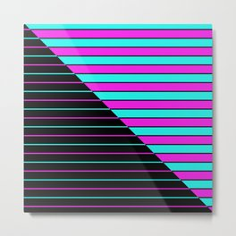 Bright Stripes Metal Print