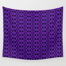 Geometric Design - Purple and Magenta - Diamonds Circles Squares Wall Tapestry