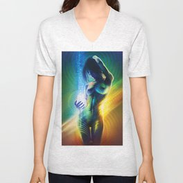 Prismatic Singularity Unisex V-Neck