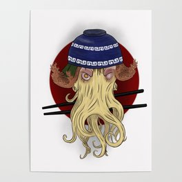 Ramen Cthulhu, the Great Old One Poster
