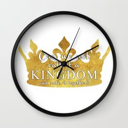 We hold the centre Wall Clock