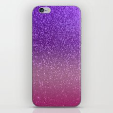 Gradient Glitter Purple Pink Sparkle iPhone & iPod Skin