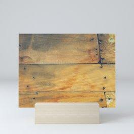 Wood Planks Shipboard Mini Art Print