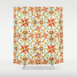 Suzani Textile Pattern Shower Curtain