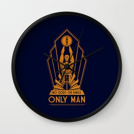 No Gods or Kings Wall Clock
