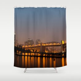 Vancouver in the Haze Shower Curtain