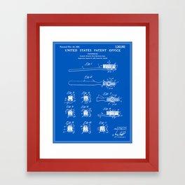 Toothbrush Patent - Blueprint Framed Art Print