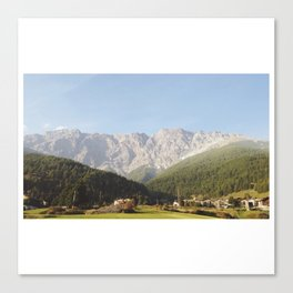 View From the Drive, The Alps and Forever Canvas Print