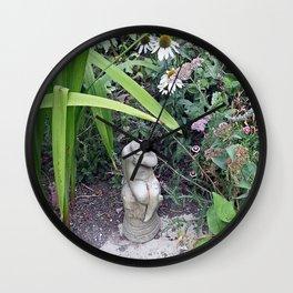 Sitting in the Garden Wall Clock