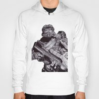 master chief Hoodies featuring Master Chief Pen Drawing by DeMoose_Art