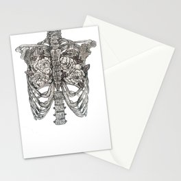 anatomy of an artist, between two lungs Stationery Cards