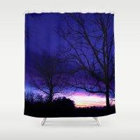 georgia Shower Curtains featuring Georgia Dusk by Ludwig Van Bacon
