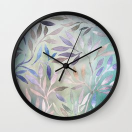 Painted Leaves 2 - color variation Wall Clock