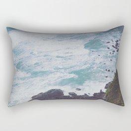 Blue Ocean - Seals on Rocks Rectangular Pillow