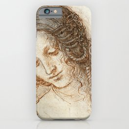 Leonardo da Vinci - Head of Leda iPhone Case