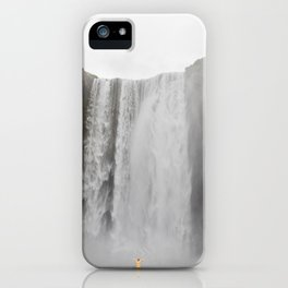 Skógafoss waterfall - lanscape photography iPhone Case