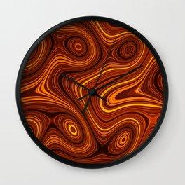 Amber Lava 1 Hi Res Wall Clock
