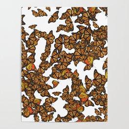 Monarch Butterflies Migration Poster