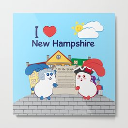 Ernest and Coraline | I love New Hampshire Metal Print
