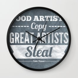 Great artists steal Wall Clock