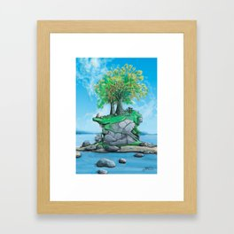 Island Hole #1 Framed Art Print