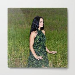 Meditative Dance in the Summer Field Metal Print