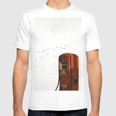old fuel pump MEDIUM White Mens Fitted Tee