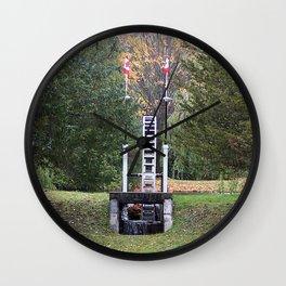 Country Water Wheel Wall Clock