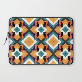 Witch Cat Pumpkin in Candy Corn Laptop Sleeve