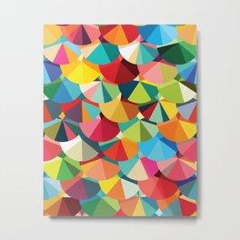 Piecharts Pattern Metal Print