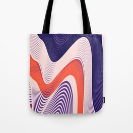 Pink Red Blue lines Tote Bag