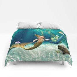 Cute Mermaid 2 Comforters