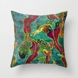 Cichlid and Sargassum Throw Pillow