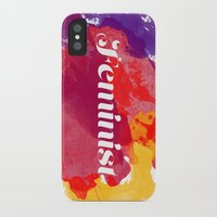 feminism iPhone & iPod Cases featuring Feminism Watercolor by Pia Spieler