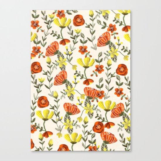 Colorful Garden Pattern Canvas Print