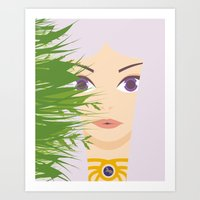 khaleesi Art Prints featuring Khaleesi of the Grass Sea by momolady