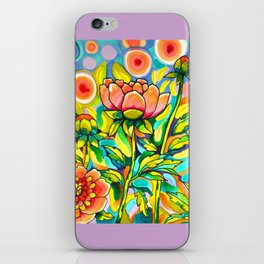 Peach & Pink Peonies iPhone Skin